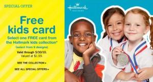 FREE Hallmark Kids Card