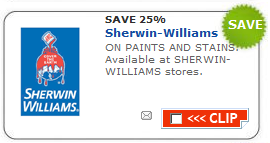 picture relating to Sherwin Williams Printable Coupon identify Sherwin-Williams: 25% off Printable Coupon + Far more - Package