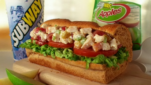 Subway Orchard Chicken Salad Sub