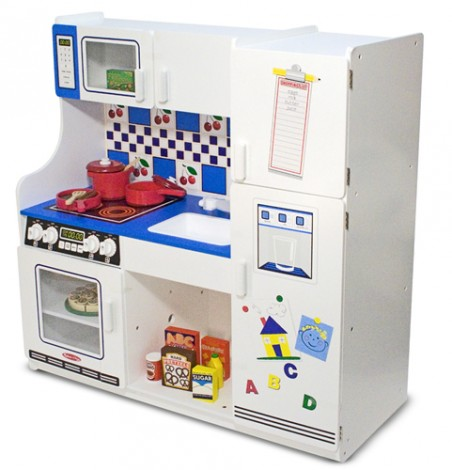 Win it wednesday melissa doug play kitchen from gummy lump for Kids kitchen set sale