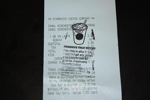Starbucks Treat Receipts Are Back!