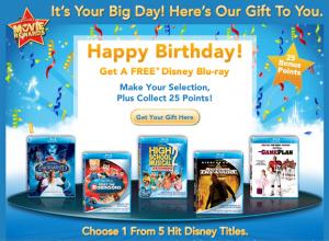 Disney Movie Rewards: Free Blu-ray for Your Birthday! - Deal