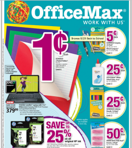 Office Max Back To School Deals 8/29/10