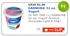 picture relating to Yogurt Coupons Printable named Refreshing $1 off Dannon 32-oz. Yogurt Printable Coupon - Package