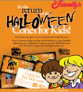 friendly's halloween cones for kids