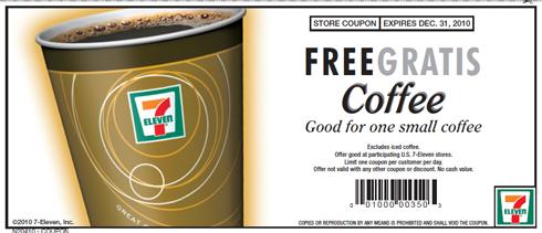 7-11 free coffee