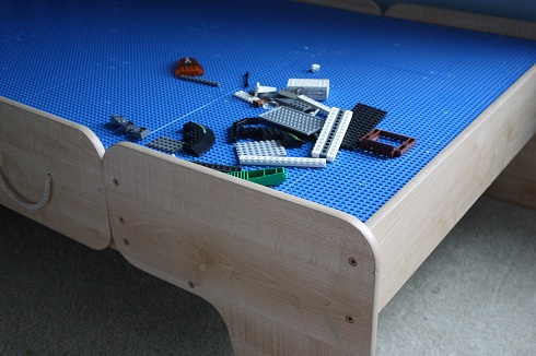 This Has To Be One Of My Favorite Solutions For Repurposing An Item We  Already Had. When Our Boys Outgrew Their Wooden Train Table, We Were  Getting Ready To ...