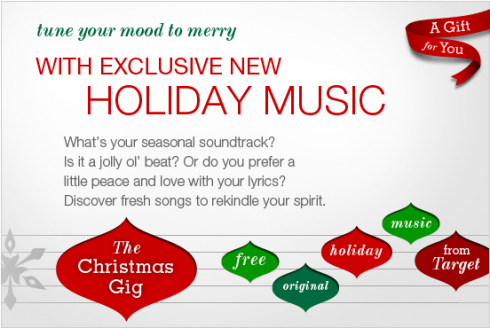 Target: FREE Holiday Song Download
