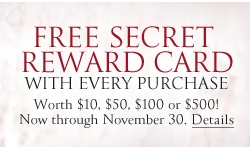 Victoria's Secret: FREE Secret Reward Card/Online Purchase