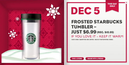 Starbucks 12 Days of Sharing: December 5