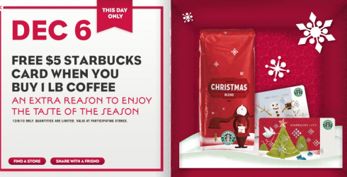 Starbucks 12 Days of Sharing: December 6