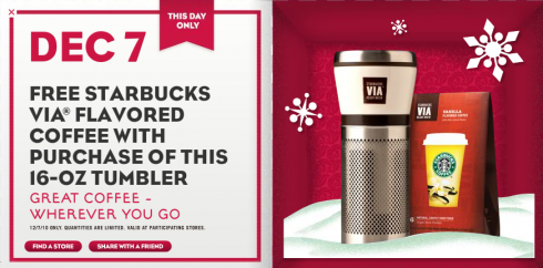 Starbucks 12 Days of Sharing: December 7