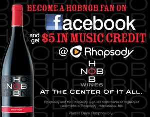 $5 rhapsody credit from hobnob wines