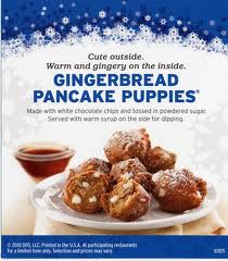 gingerbread pancake puppies