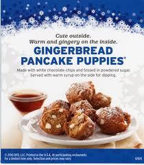 gingerbread pancake puppies