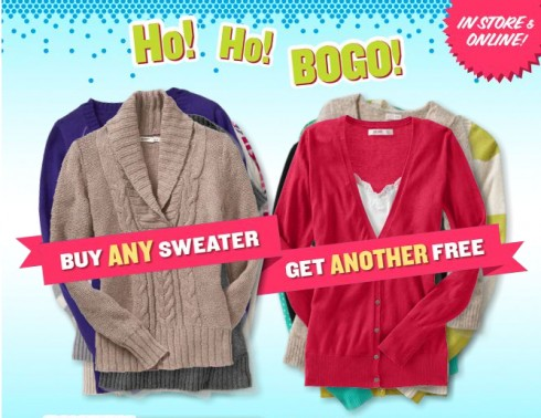 old navy B1G1 free sweaters