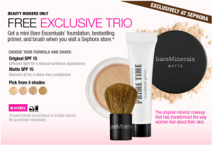 Sephora: FREE Bare Escentuals Deluxe Samples - Deal Seeking Mom