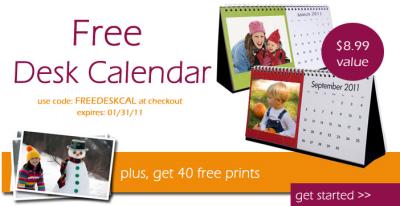 free desk calendar