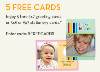 5 free cards from shutterfly