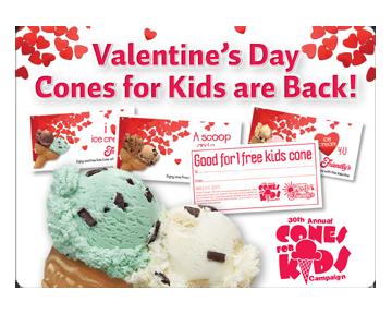 friendly's valentine's day cones
