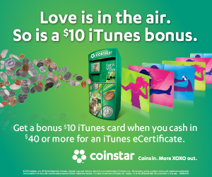 itunes coinstar promotion