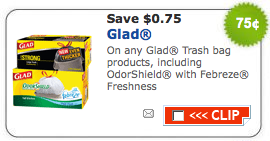 graphic relating to Glad Trash Bags Printable Coupon named Fresh $0.75/1 Happy Trash Baggage Printable Coupon - Offer Trying to find Mother