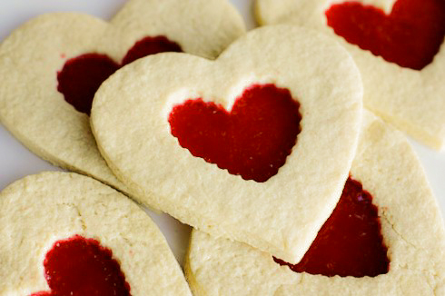 Heart Shaped Stained Glass Sugar Cookies For Valentine S Day