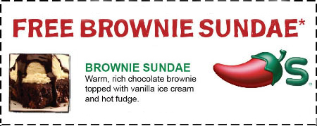 free brownie sundae at chili's