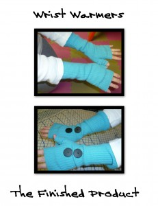 upcycled cashmere wrist warmers