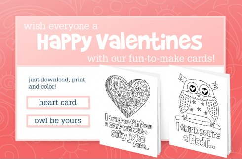 company kids: free downloadable valentine's day cards, Ideas