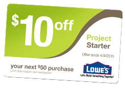lowes project starter Check out these amazing lowe's coupons lots of great deals at one project closer how to get lowe's project starter coupon how to get lowe's project starter coupon.