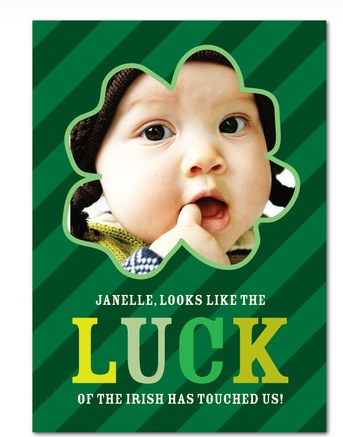 free St. patrick's day card from tiny prints