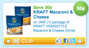 Kraft Macaroni & Cheese Coupon