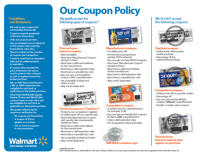 Walmart Coupon Policy And Ad Match Clarification Deal Seeking Mom