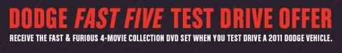 fast & furious DVD set free