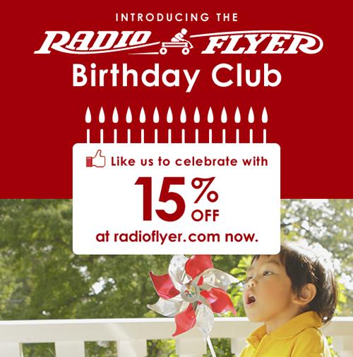 radio flyer birthday club