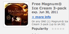 Magnum Ice Cream Coupon