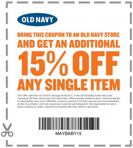 On Tuesdays when you use your Old Navy credit card, you will get 10% off. So when I purchased something yesterday (Tuesday), I noticed that night that I wasn't given the 10% discount.1/5.