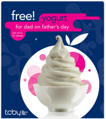 free tcby on father's day