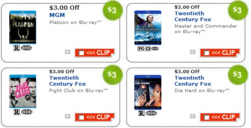 blu-ray coupons