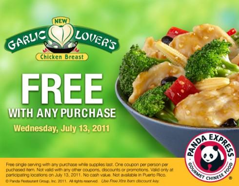 panda express free meal
