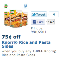 Knorr Pasta Sides coupon