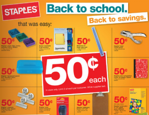 Staples Back To School 7/17/11