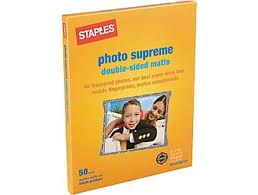 "Staples: Photo Supreme 8.5""x11"" Paper (50 pk.) FREE"