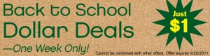 Scholastic Dollar Deals Sale