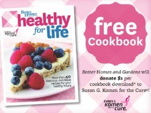 free healthy for life e cookbook