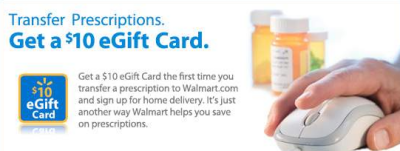 Walmart Prescription Transfer Gift Card