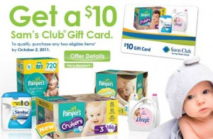 Sams $10 Gift Card Offer