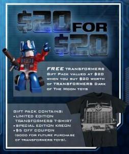 Transformers Rebate Deal