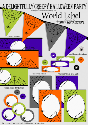 free printable halloween party labels